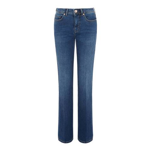 Oasis Mid Blue Scarlet Bootcut Jeans