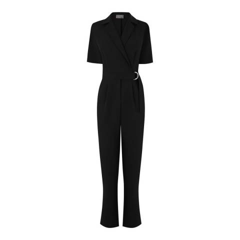 Oasis Black Revere Collar D Ring Jumpsuit