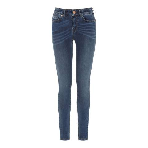 Oasis Mid Blue Cherry Premium Memphis Skinny Jeans