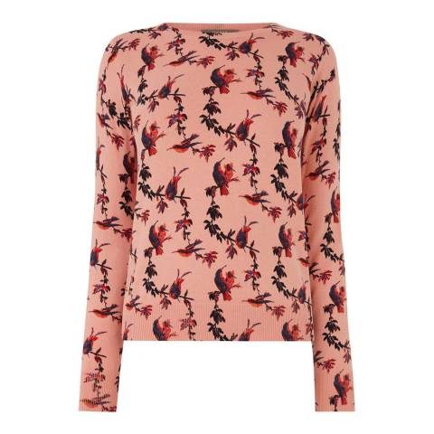 Oasis Pink Gracie Chirping Bird Jumper