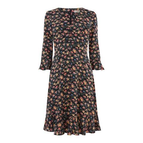 Oasis Multi Garden Ditsy Long Skater Dress