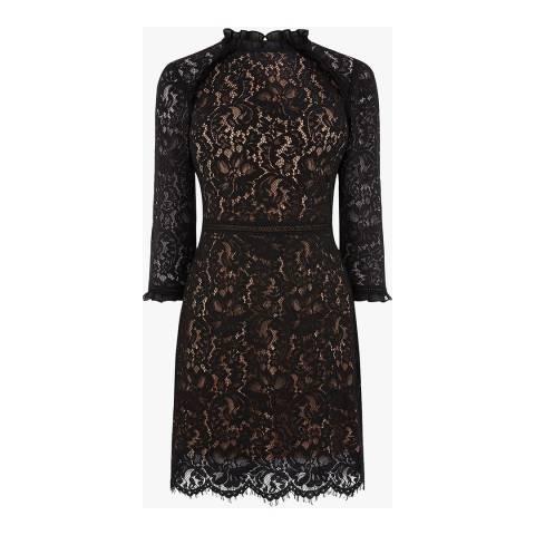 Oasis Black Prarie Lace Dress