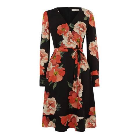 Oasis Multi Bold Bloom Long Skater Dress