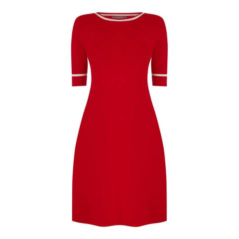 Oasis Mid Red Rosie Knitted Dress