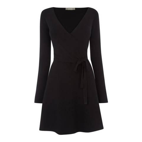 Oasis Black Millie Tie Side Knitted Dress