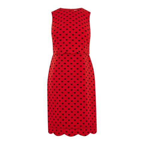 Oasis Red Butterfly Long Shift Dress