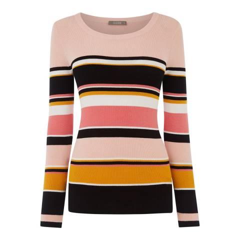 Oasis Pink/Multi Nicola Stripe Jumper
