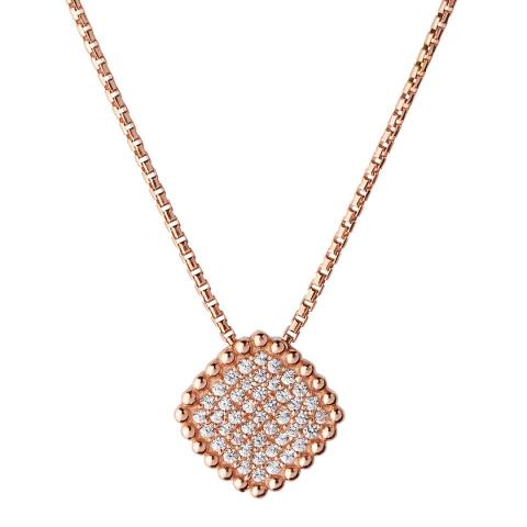 Links of London Rose Gold Pure Square Necklace
