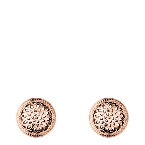Links of London Rose Gold Timeless Domed Stud Earrings