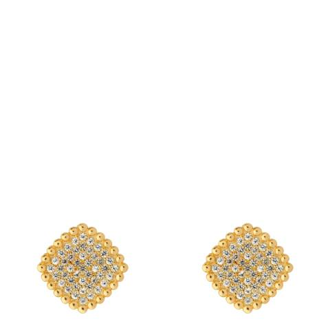 Links of London Yellow Gold Pure Square Earrings