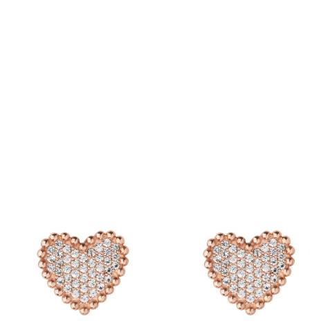 Links of London Rose Gold Pure Heart Earrings