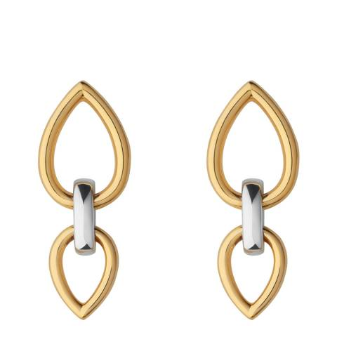 Links of London Silver & Yellow Gold Vermeil Flare Earrings