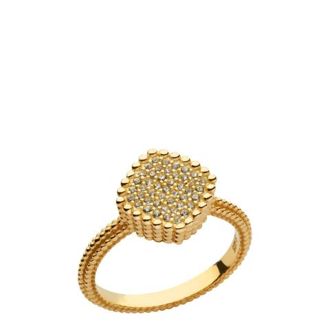 Links of London Yellow Gold Pure Square Ring