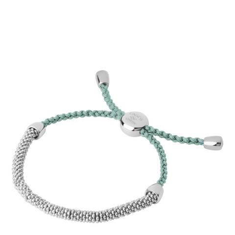 Links of London Green & Silver Cord Bracelet