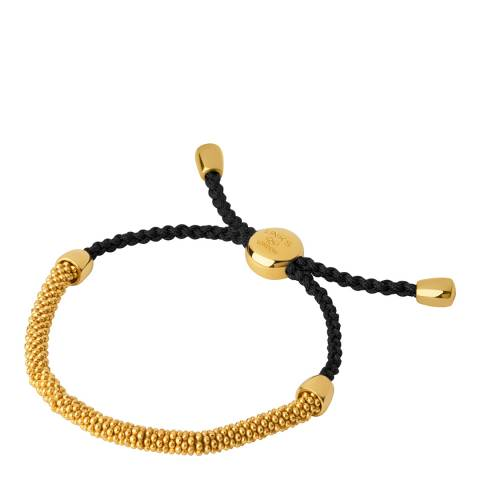 Links of London Brown & Yellow Gold Cord Bracelet