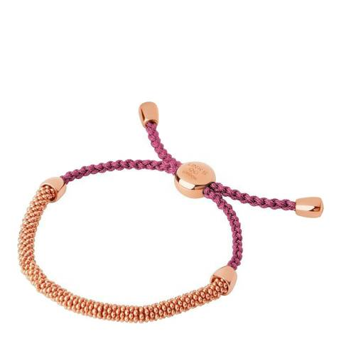 Links of London Red & Rose Gold Cord Bracelet