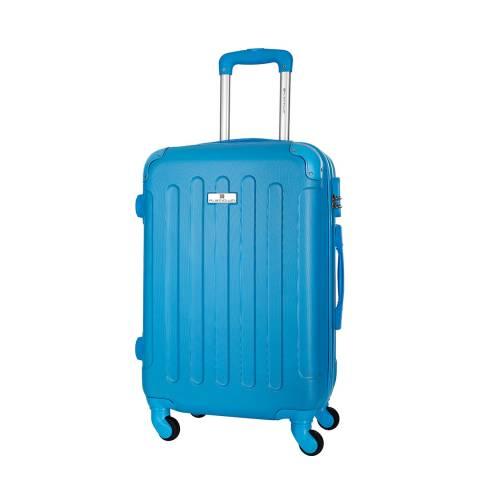 Platinium Blue All Good 4 Wheel Suitcase 56cm
