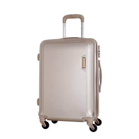 Platinium Beige Buccia 4 Wheel Suitcase 56cm