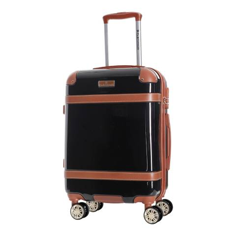 Platinium Black Venicia 8 Wheel Suitcase 76cm