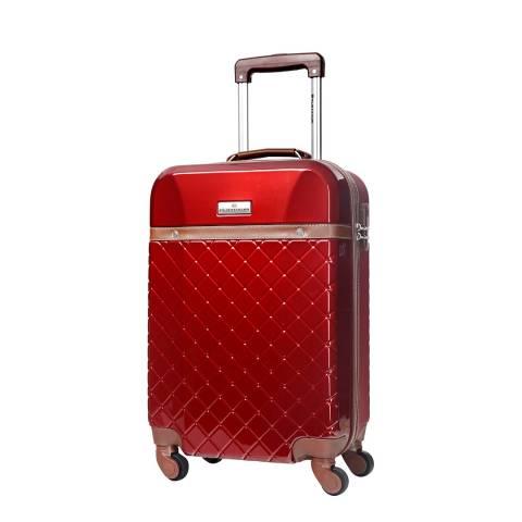 Platinium Bordeaux Trendy 4 Wheel Suitcase 60cm
