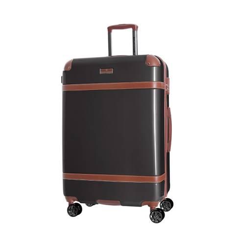 Platinium Grey Venicia 8 Wheel Suitcase 66cm