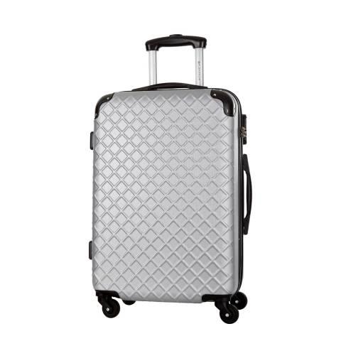 Platinium Silver Sifnos 4 Wheel Suitcase 56cm