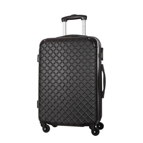 Platinum Black Sifnos 4 Wheel Suitcase 56cm