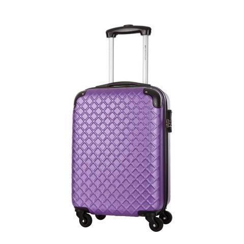 Platinium Violet Sifnos 4 Wheel Suitcase 56cm