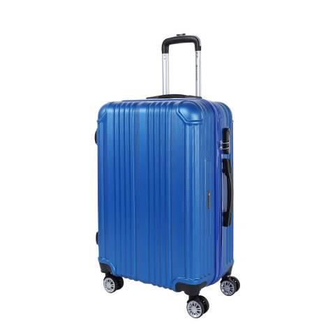 Platinium Blue Rockland 8 Wheel Suitcase 66cm