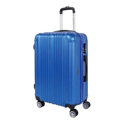 Platinium Blue Rockland 8 Wheel Suitcase 76cm