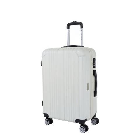 Platinium Beige Rockland 8 Wheel Suitcase 56cm