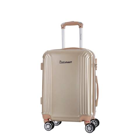 Platinium Beige Valley 8 Wheel Suitcase 70cm