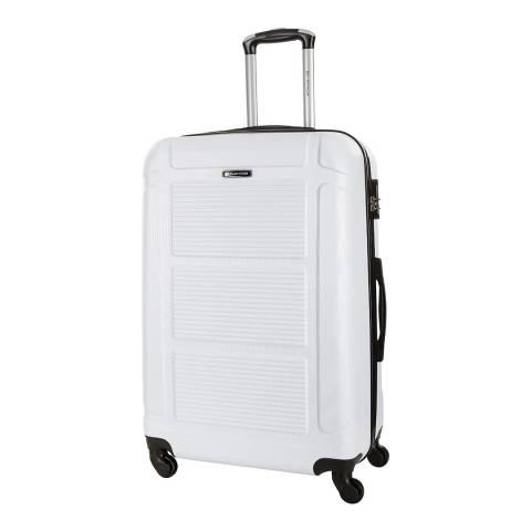 Platinium White Basildon 4 Wheel Suitcase 70cm