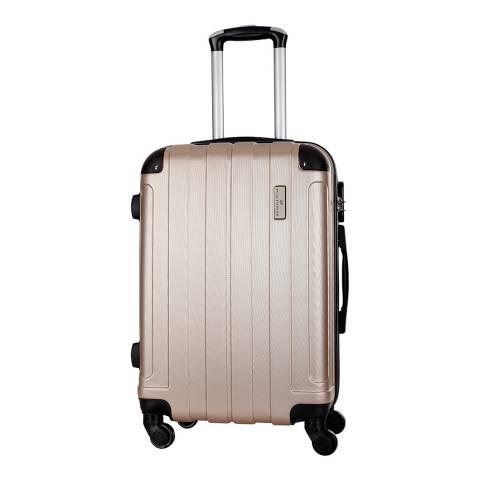 Platinium Beige Delos 4 Wheel Suitcase 66cm