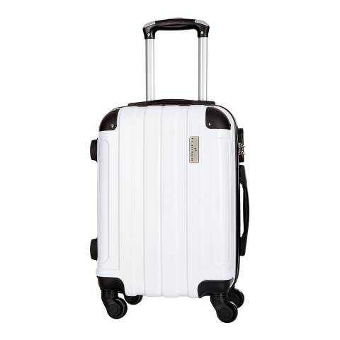 Platinium White Delos 4 Wheel Suitcase 66cm