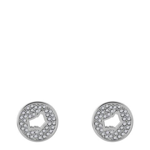 Radley Silver Stone Set Cut Through Dog Head Stud Earrings