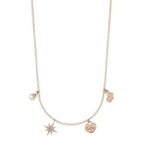 Radley Rose Gold Multi Charm Necklace
