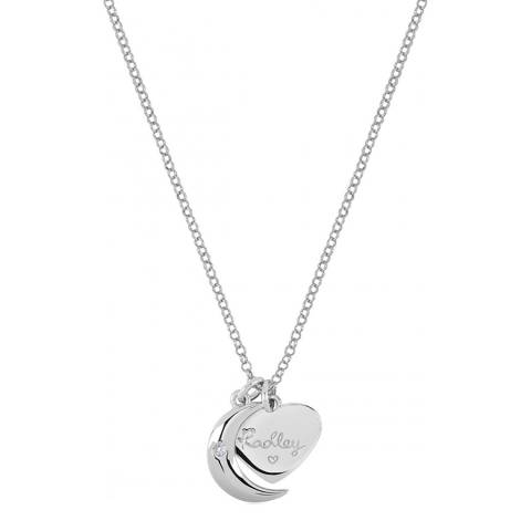 Radley Long Silver Heart Charm Necklace