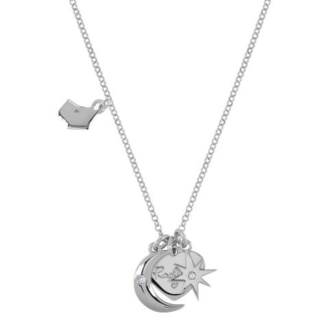 Radley Silver Heart Moon And Star Charm Necklace