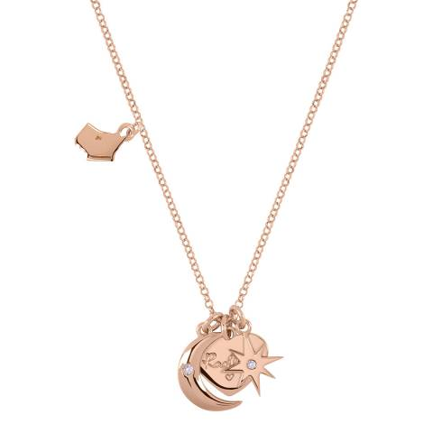 Radley Rose Gold Heart Moon And Star Charm Necklace