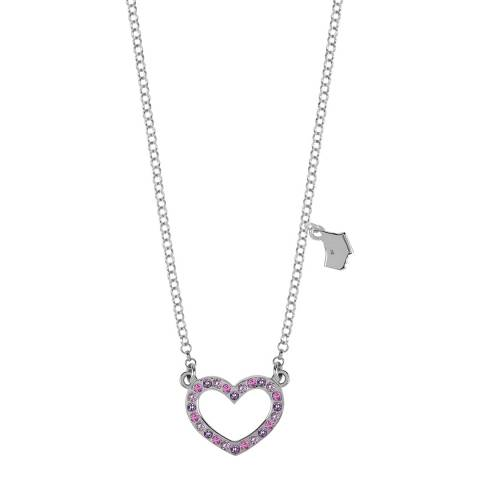 Radley Silver Fine Belcher Chain With Stone Pave Ditsy Heart Pendant