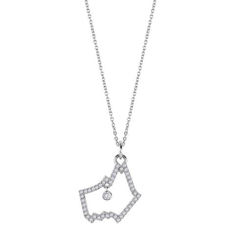 Radley Stone Set Dog Head Pendant Necklace