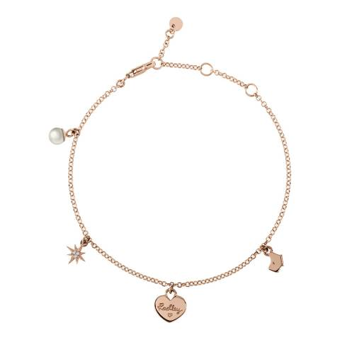 Radley Rose Gold Multi Charm Bracelet