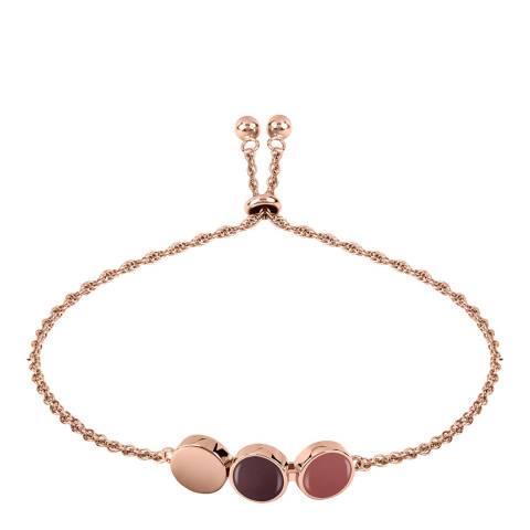 Radley Rose Gold Enamel Drop Bracelet