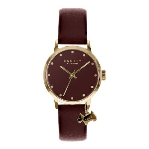 Radley Red Gold Plated Leather Strap Watch