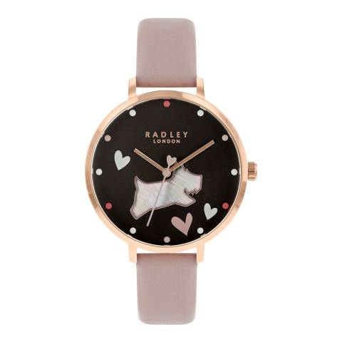 Radley Cobweb Rose Gold Plated Leather Strap Watch