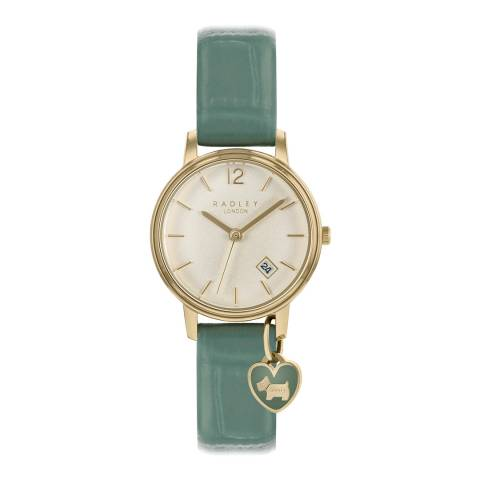 Radley Sage Leather Watch with Heat Charm