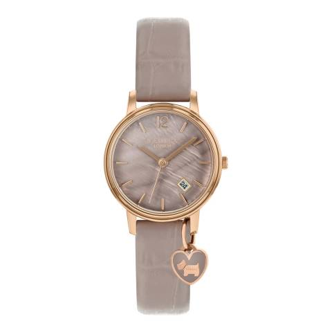 Radley Nude Rose Gold Plated Leather Watch