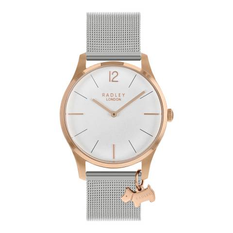 Radley Rose Case Silver Mesh Strap Watch