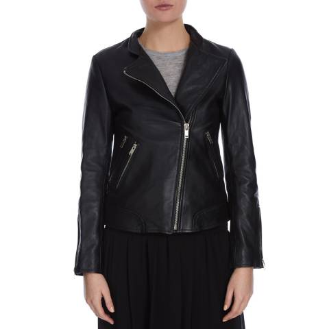 Bolongaro Trevor Black Faye Leather Racer Jacket